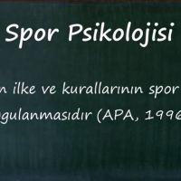 PSİKOLOJİNİN SPORA ETKİSİ